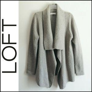 Loft Cozy Soft Warm Gray Knit Wool Sweater